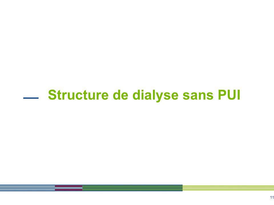 Structure de dialyse sans PUI