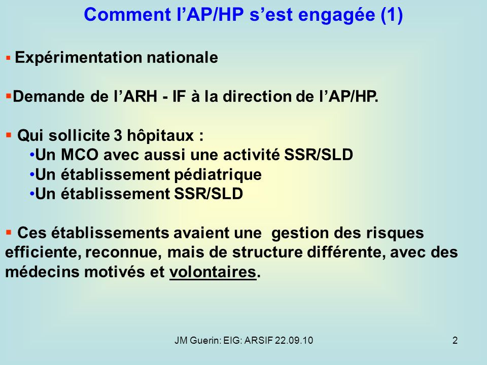 Comment l'AP/HP s'est engagée (1)