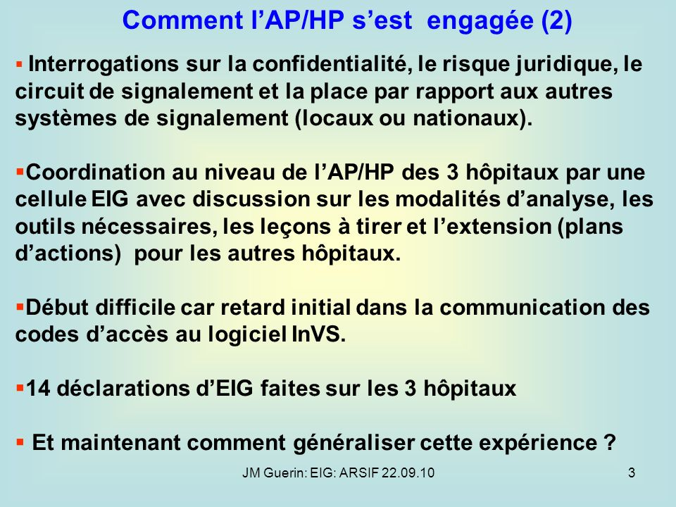 Comment l'AP/HP s'est engagée (2)
