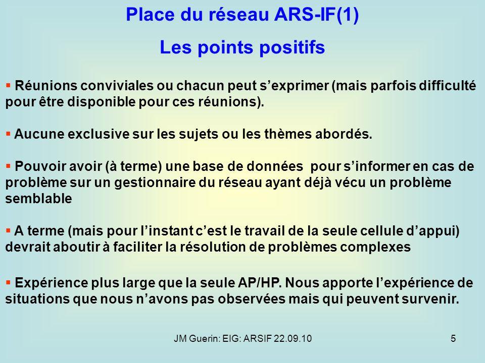 Place du réseau ARS-IF(1)