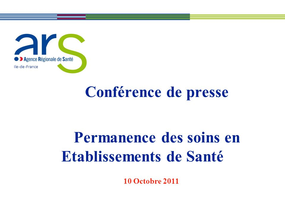 Conférence de presse Permanence des soins en Etablissements de Santé