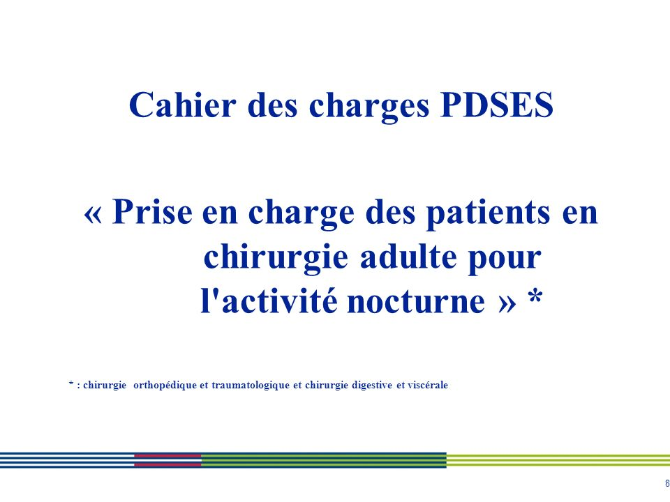 Cahier des charges PDSES
