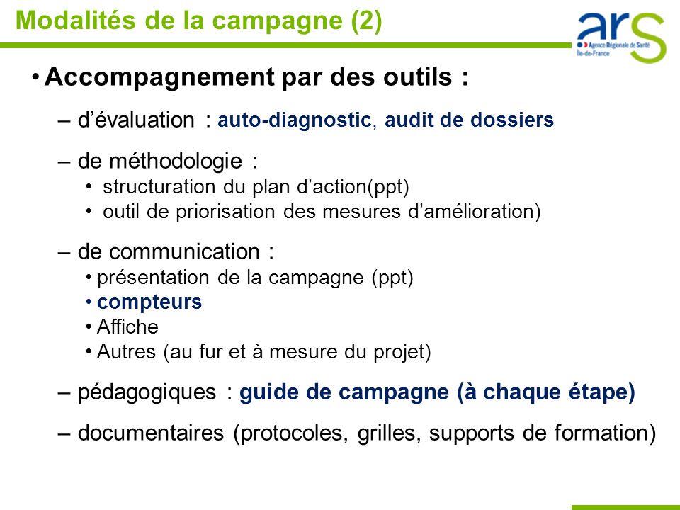 Modalités de la campagne (2)