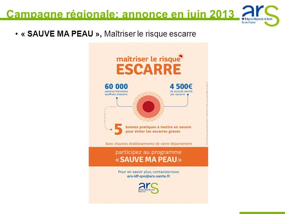Campagne régionale: annonce en juin 2013