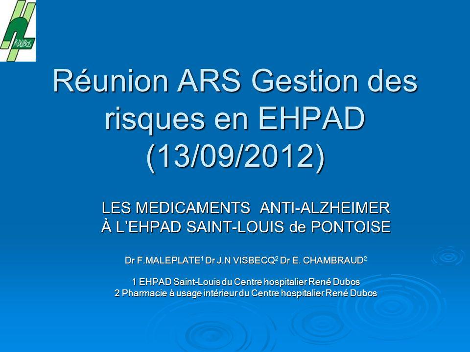 Réunion ARS Gestion des risques en EHPAD (13/09/2012)