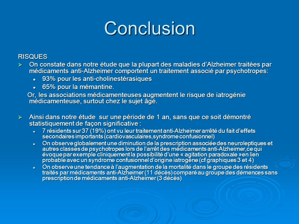 Conclusion RISQUES.