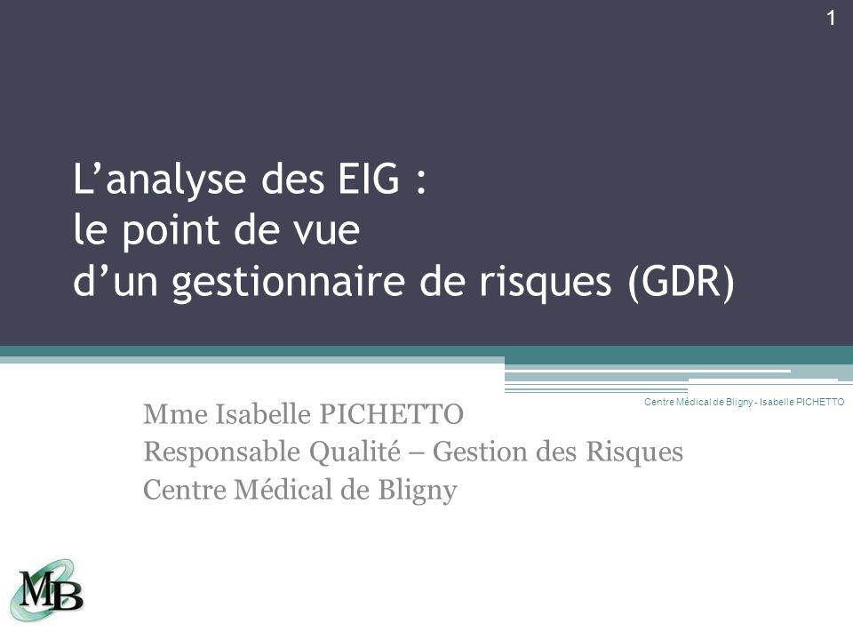 L'analyse des EIG : le point de vue d'un gestionnaire de risques (GDR)