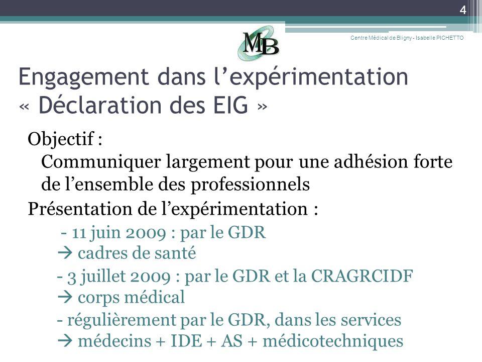 Engagement dans l'expérimentation « Déclaration des EIG »