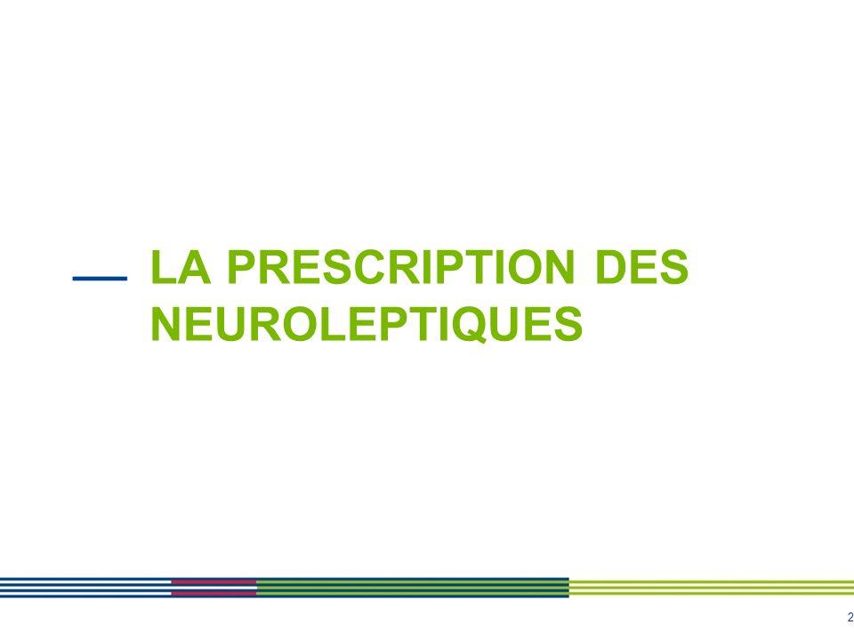 La prescription des neuroleptiques