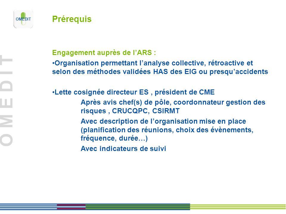 Prérequis Engagement auprès de l'ARS :