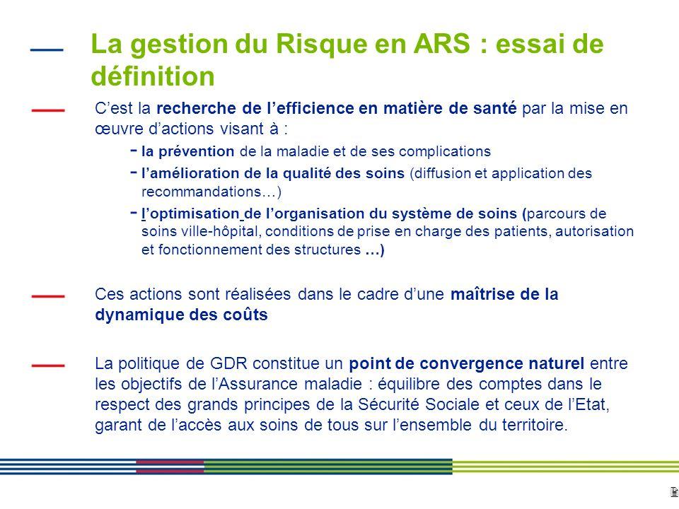 La gestion du Risque en ARS : essai de définition