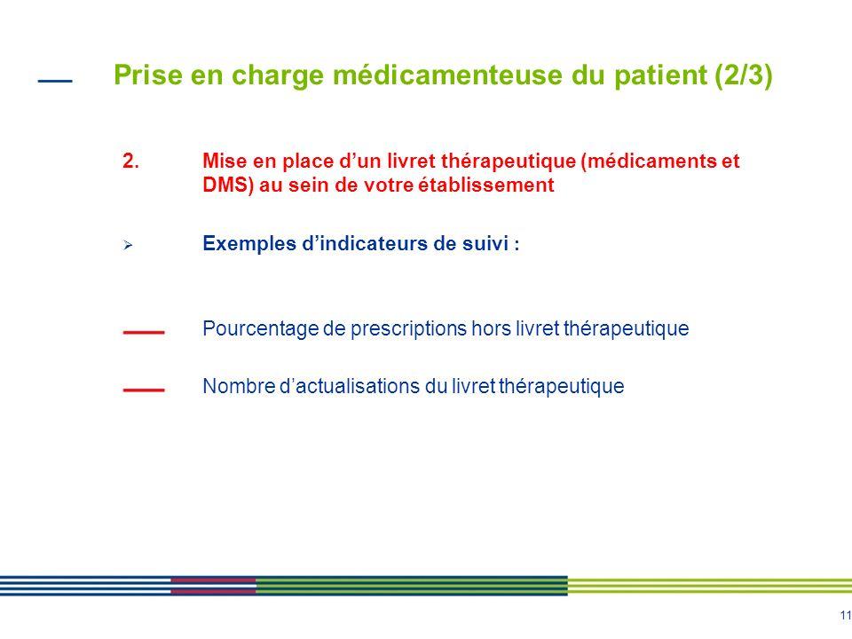 Prise en charge médicamenteuse du patient (2/3)