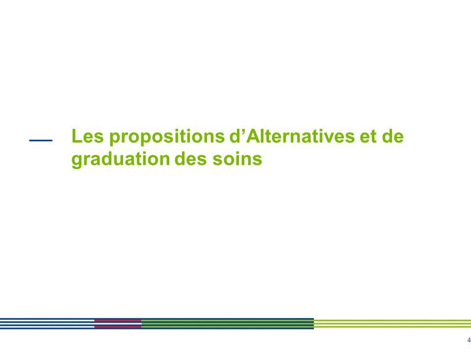Les propositions d'Alternatives et de graduation des soins