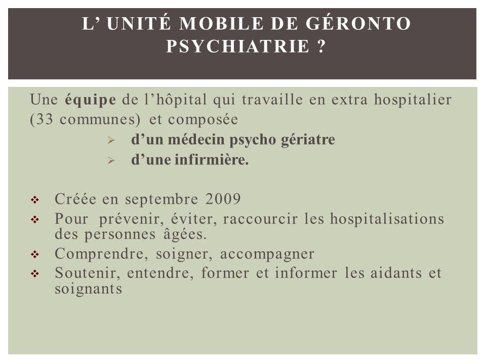 l' Unité Mobile de Géronto Psychiatrie