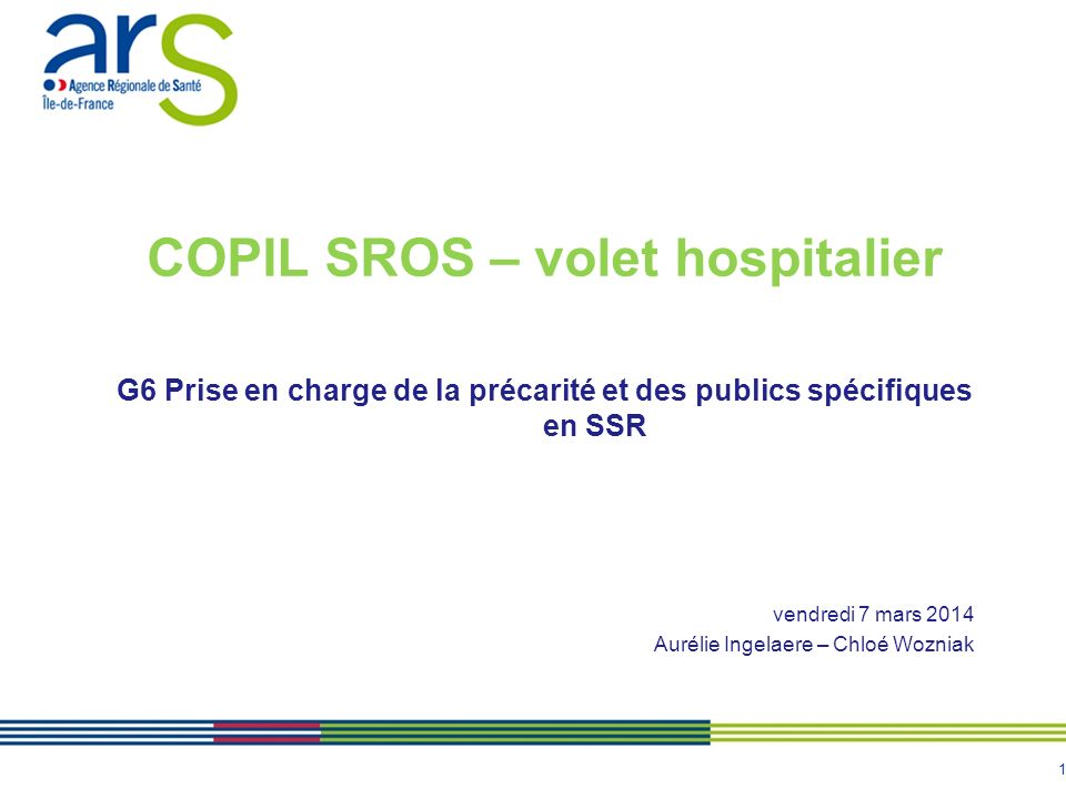 COPIL SROS – volet hospitalier