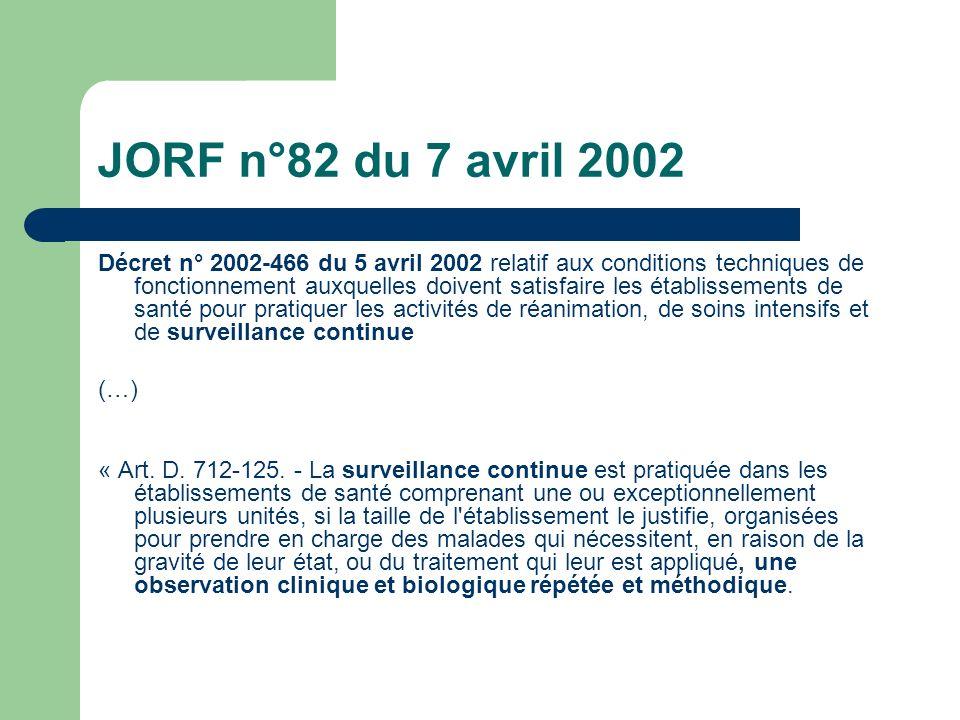 JORF n°82 du 7 avril 2002