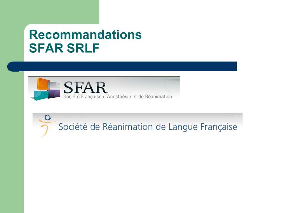 Recommandations SFAR SRLF