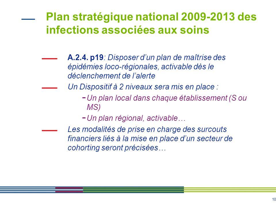 Plan stratégique national 2009-2013 des infections associées aux soins