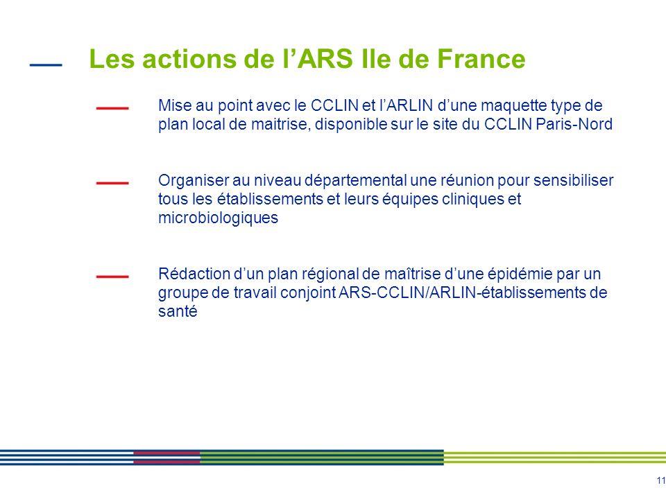 Les actions de l'ARS Ile de France