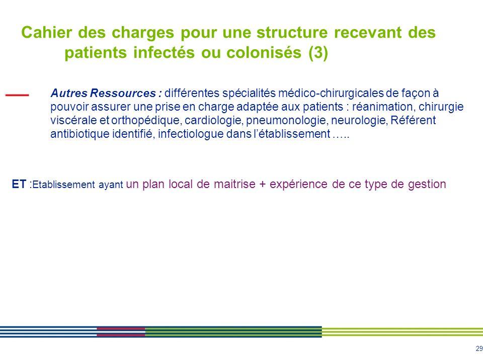 Cahier des charges pour une structure recevant des patients infectés ou colonisés (3)