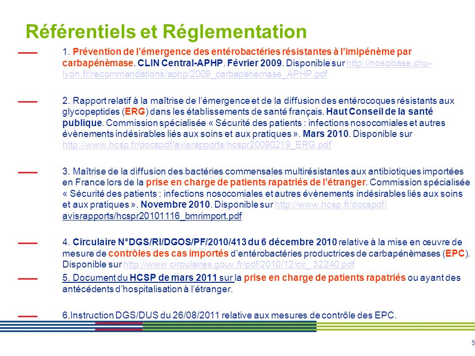 Référentiels et Réglementation
