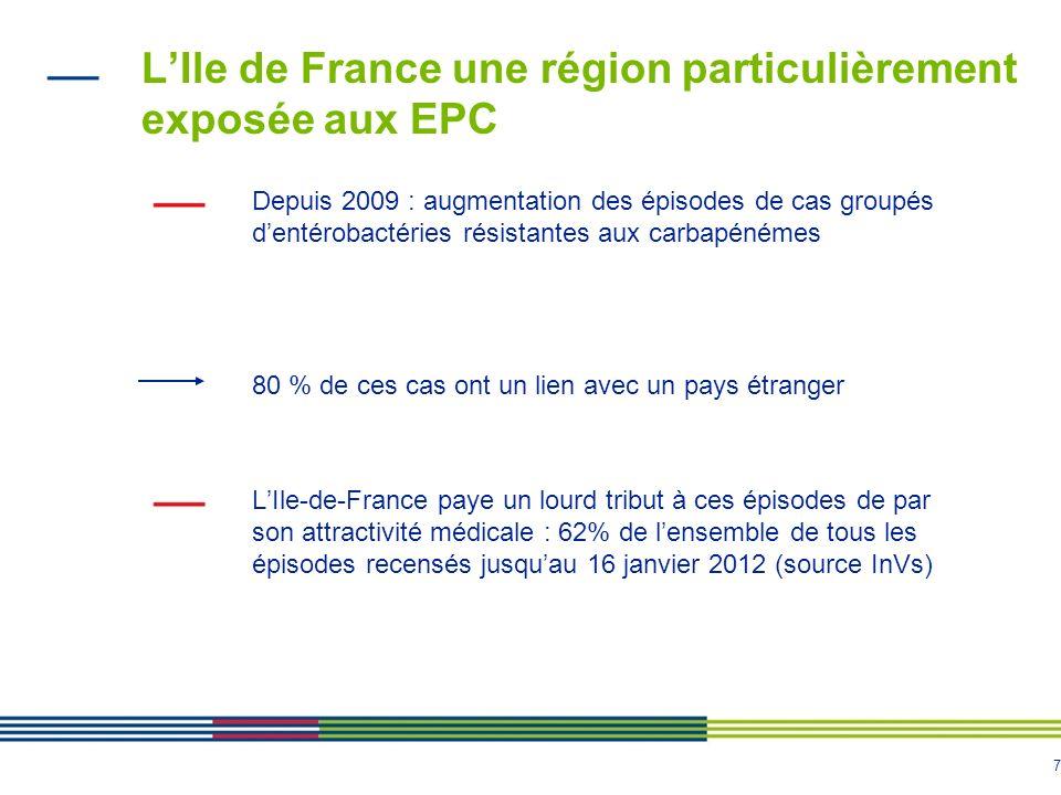 L'Ile de France une région particulièrement exposée aux EPC