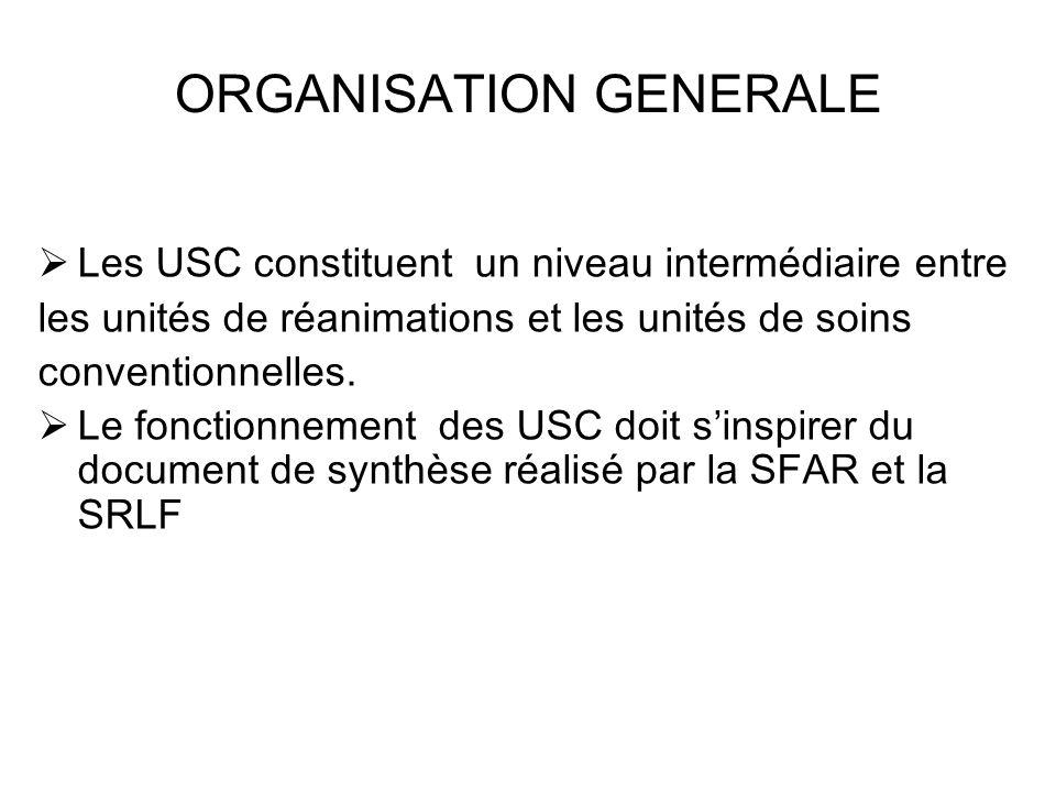 ORGANISATION GENERALE
