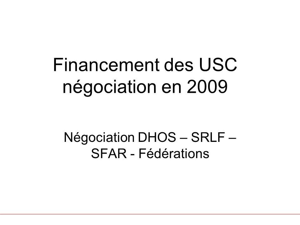 Financement des USC négociation en 2009