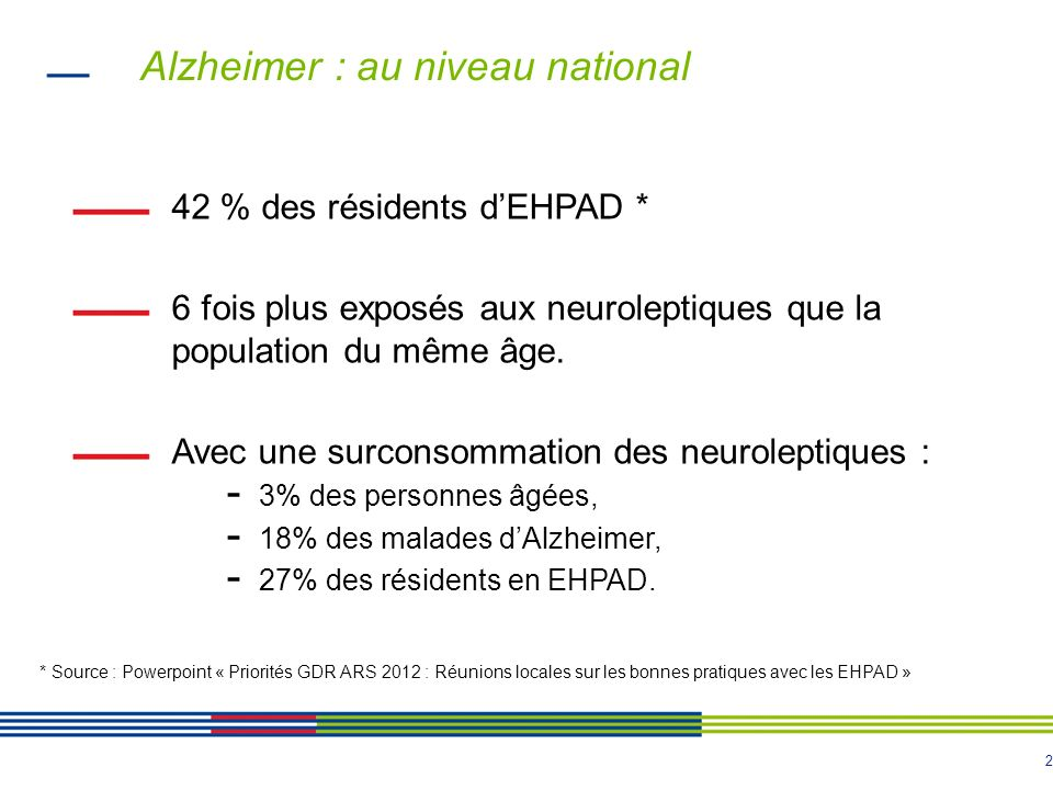 Alzheimer : au niveau national