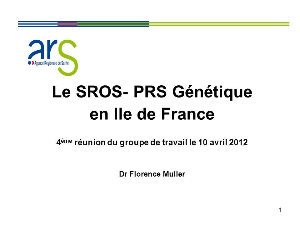 4ème réunion du groupe de travail le 10 avril 2012