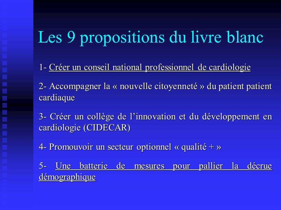 Les 9 propositions du livre blanc