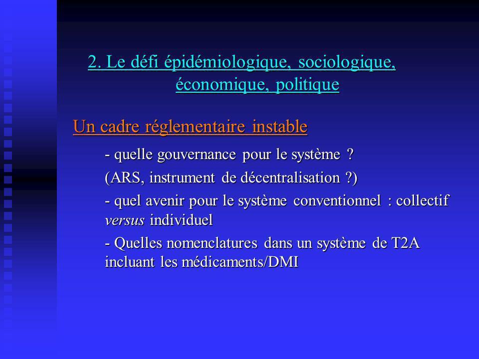 2. Le défi épidémiologique, sociologique, économique, politique