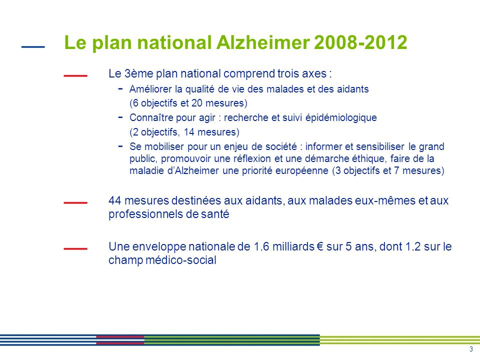 Le plan national Alzheimer 2008-2012