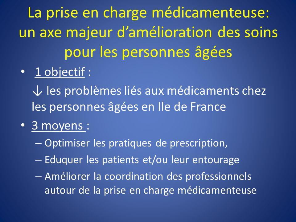 La prise en charge médicamenteuse: un axe majeur d'amélioration des soins pour les personnes âgées