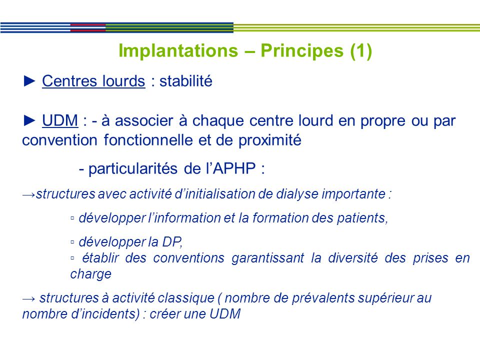Implantations – Principes (1)