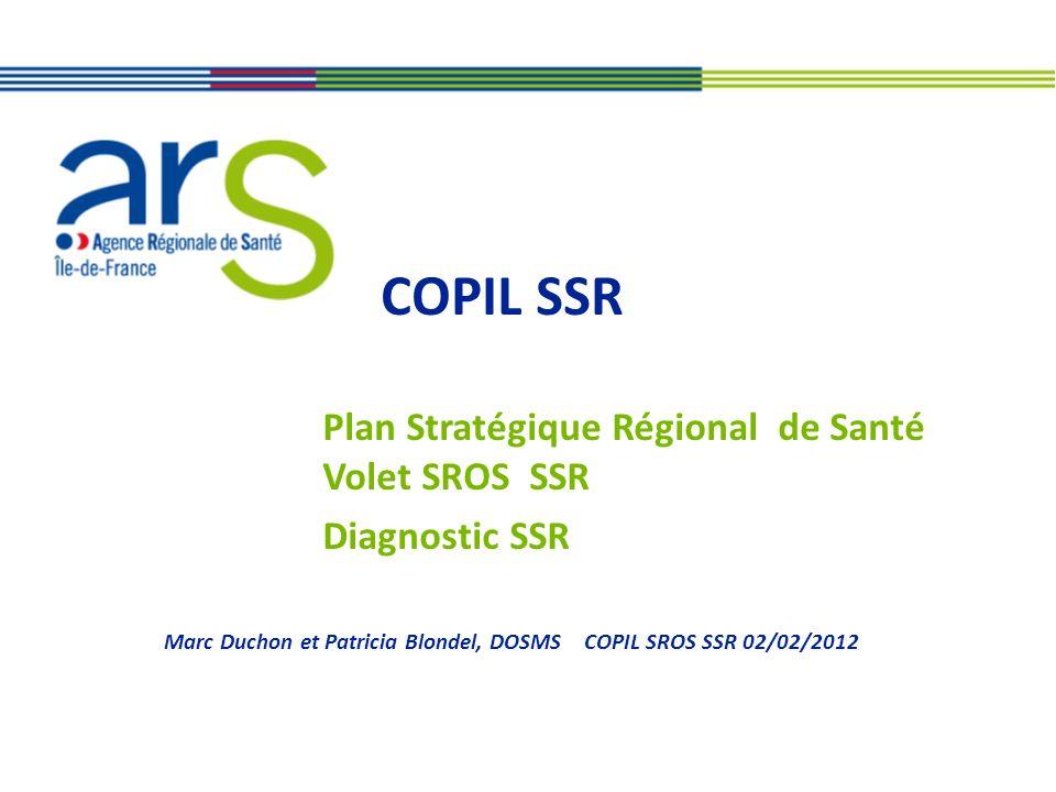 Plan Stratégique Régional de Santé Volet SROS SSR Diagnostic SSR