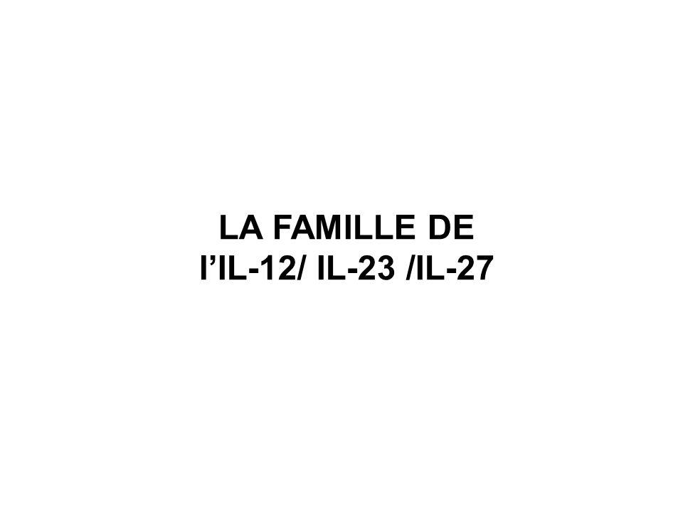 LA FAMILLE DE l'IL-12/ IL-23 /IL-27