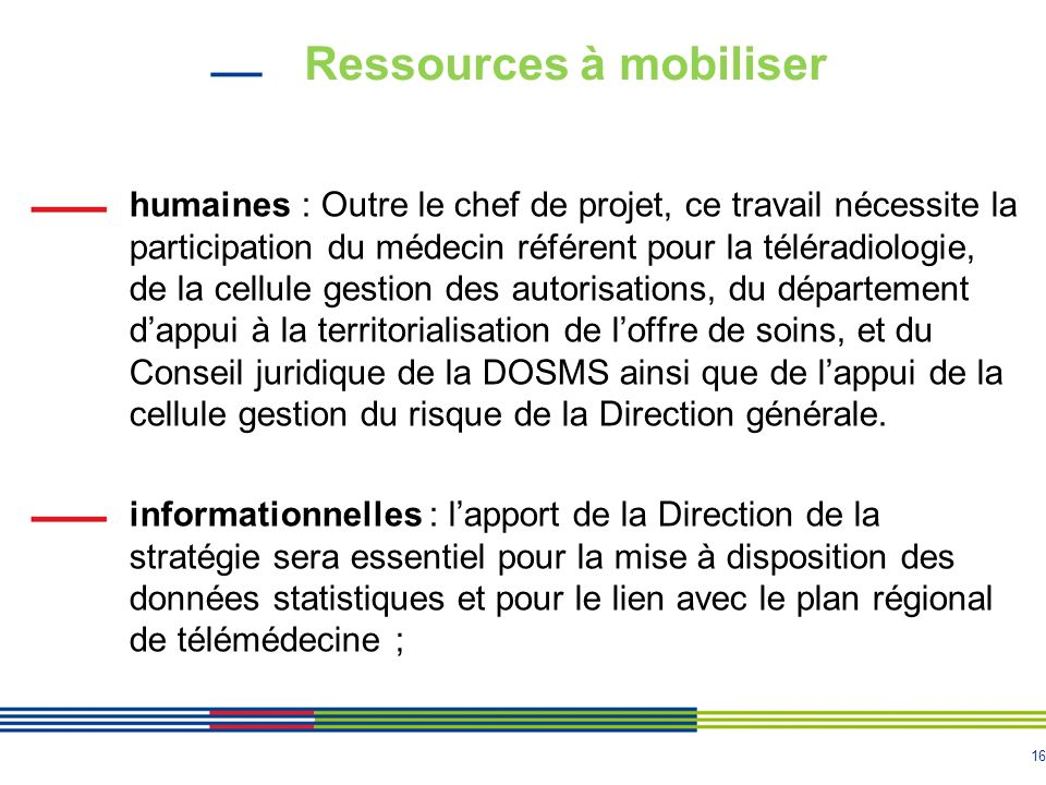 Ressources à mobiliser