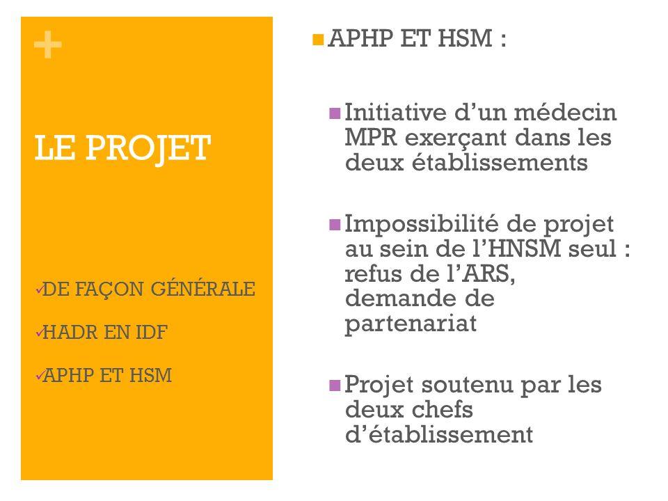 APHP ET HSM : Initiative d'un médecin MPR exerçant dans les deux établissements.