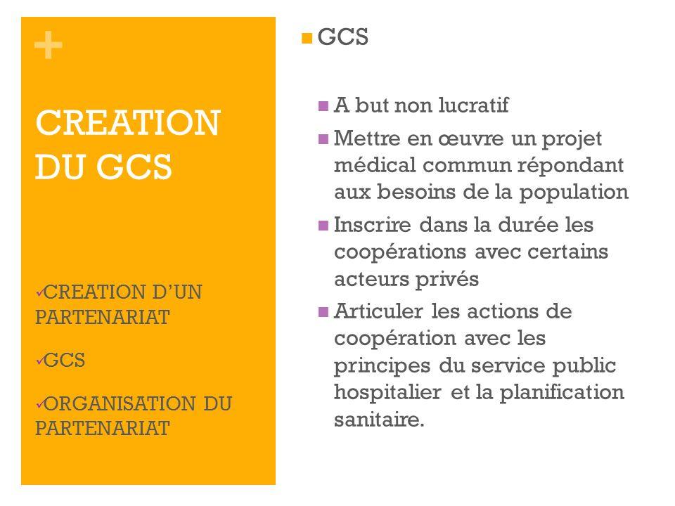 CREATION DU GCS GCS A but non lucratif