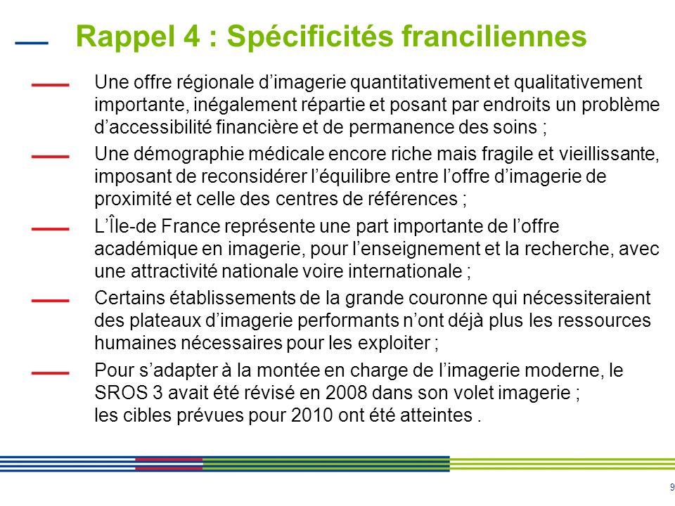 Rappel 4 : Spécificités franciliennes
