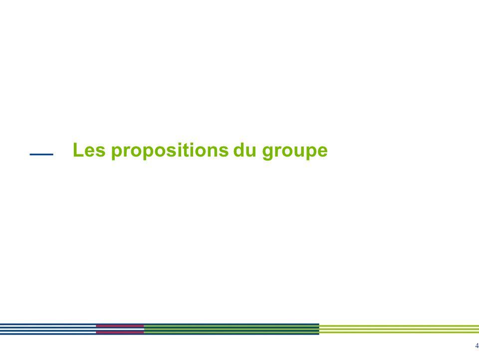 Les propositions du groupe