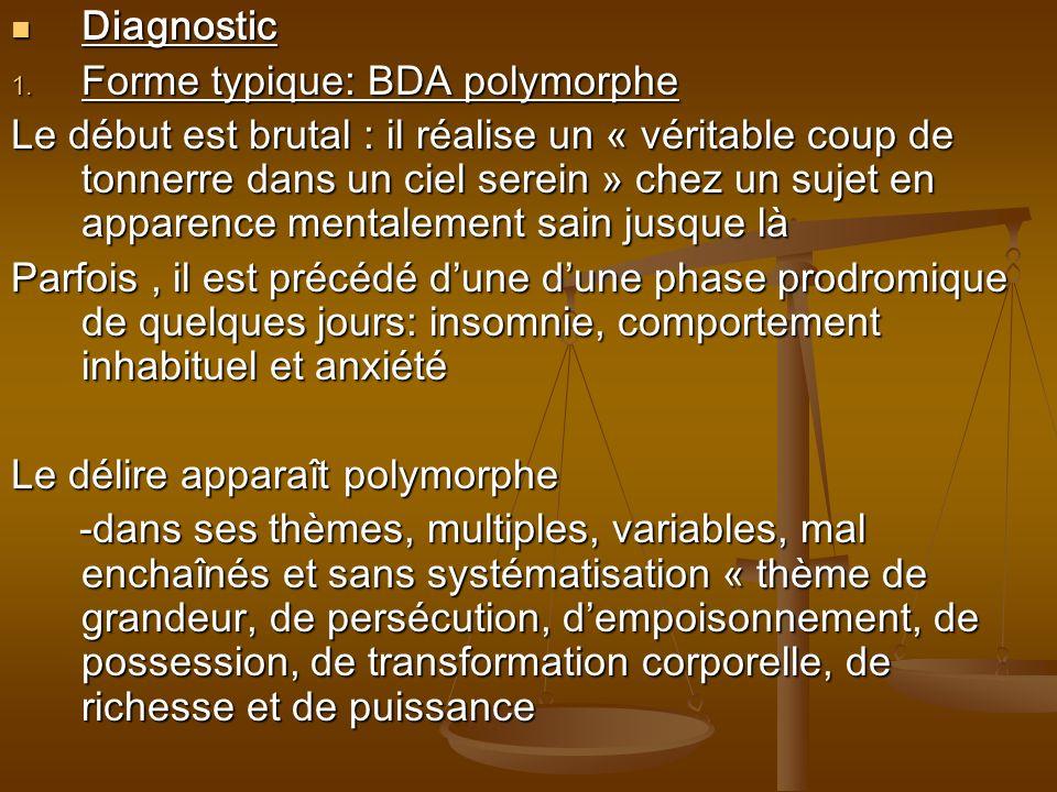 DiagnosticForme typique: BDA polymorphe.