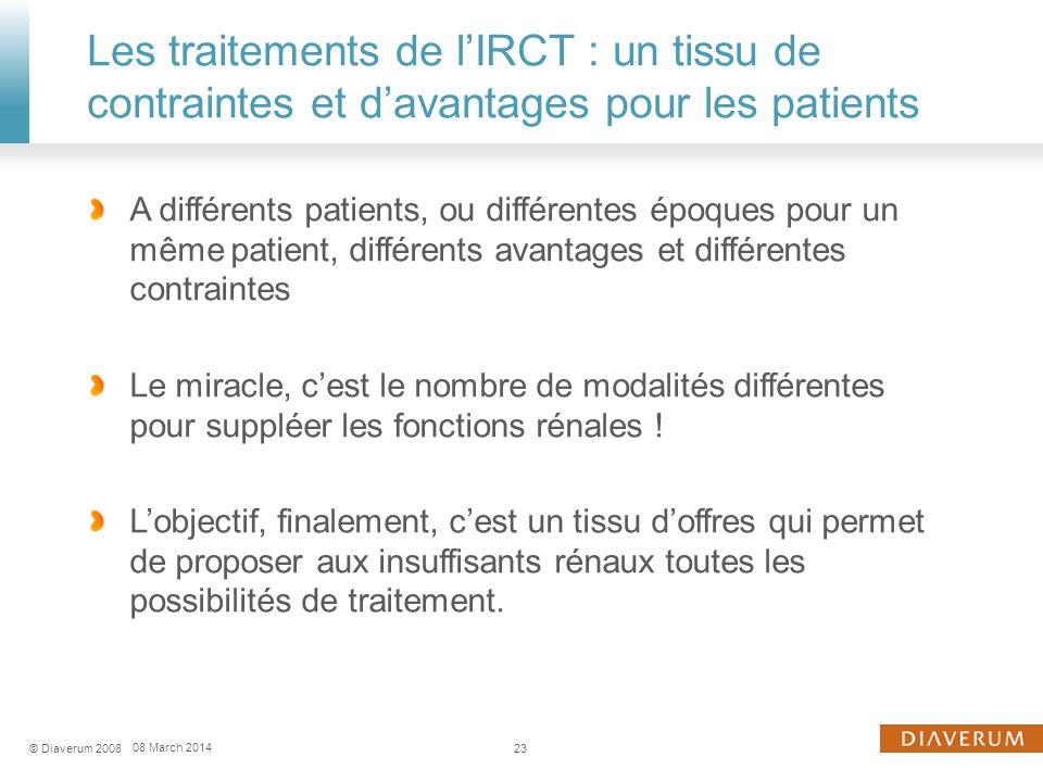 Les traitements de l'IRCT : un tissu de contraintes et d'avantages pour les patients