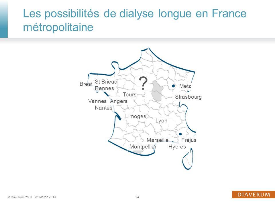 Les possibilités de dialyse longue en France métropolitaine