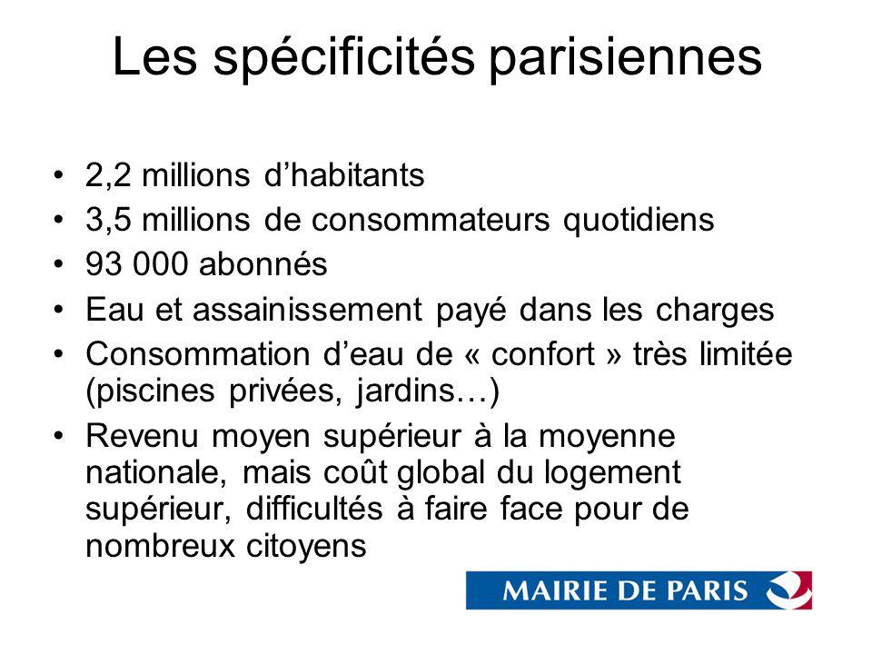 Les spécificités parisiennes
