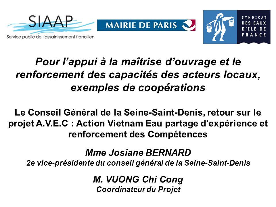 2e vice-présidente du conseil général de la Seine-Saint-Denis