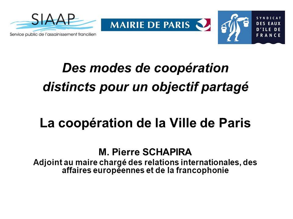 Des modes de coopération distincts pour un objectif partagé