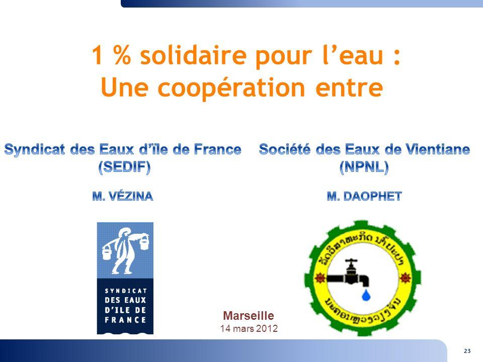 1 % solidaire pour l'eau : Une coopération entre