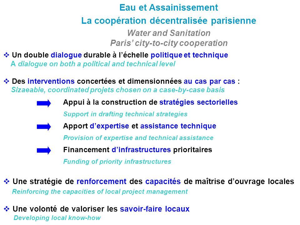 Eau et Assainissement La coopération décentralisée parisienne